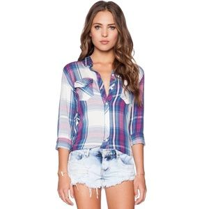 RAILS Carmen Plaid Button Up Top